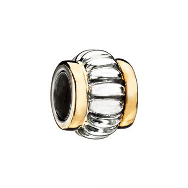 Sterling Silver and Gold Edges Chamilia Bead Charm